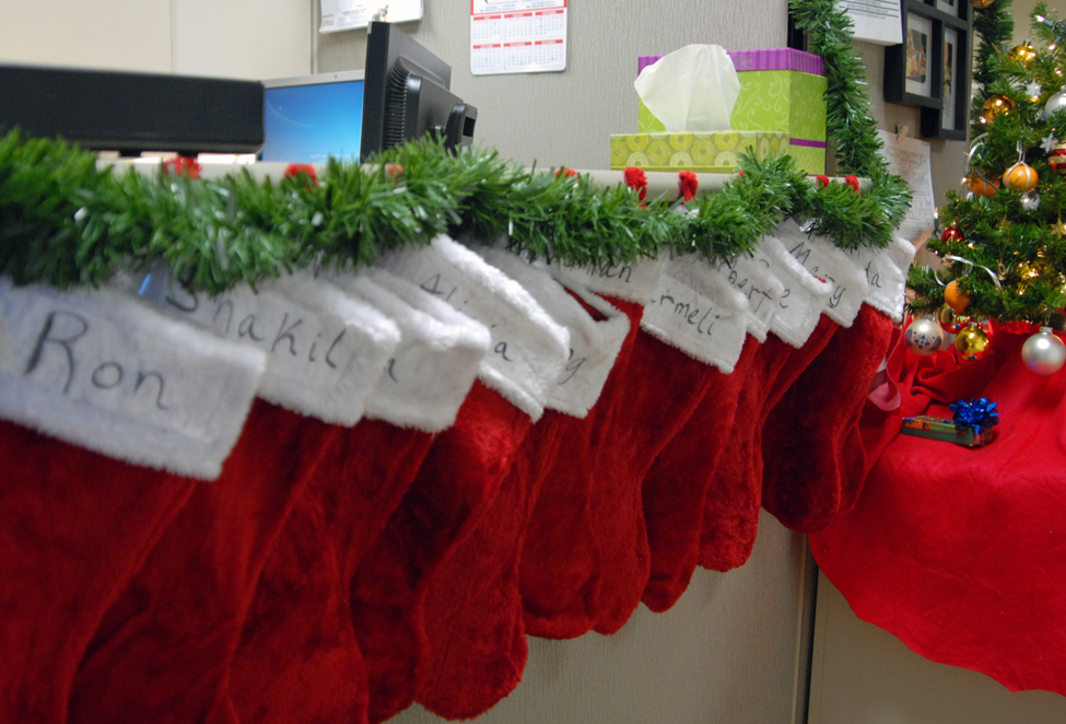 Stockings for each and every elf at the CDFA Audits Office.
