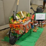 """The Inspection Services office came up with this """"Can You Dig It?"""" entry in the department's canned goods construction challenge."""