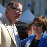 Secretary Ross with Senator Tom Berryhill.