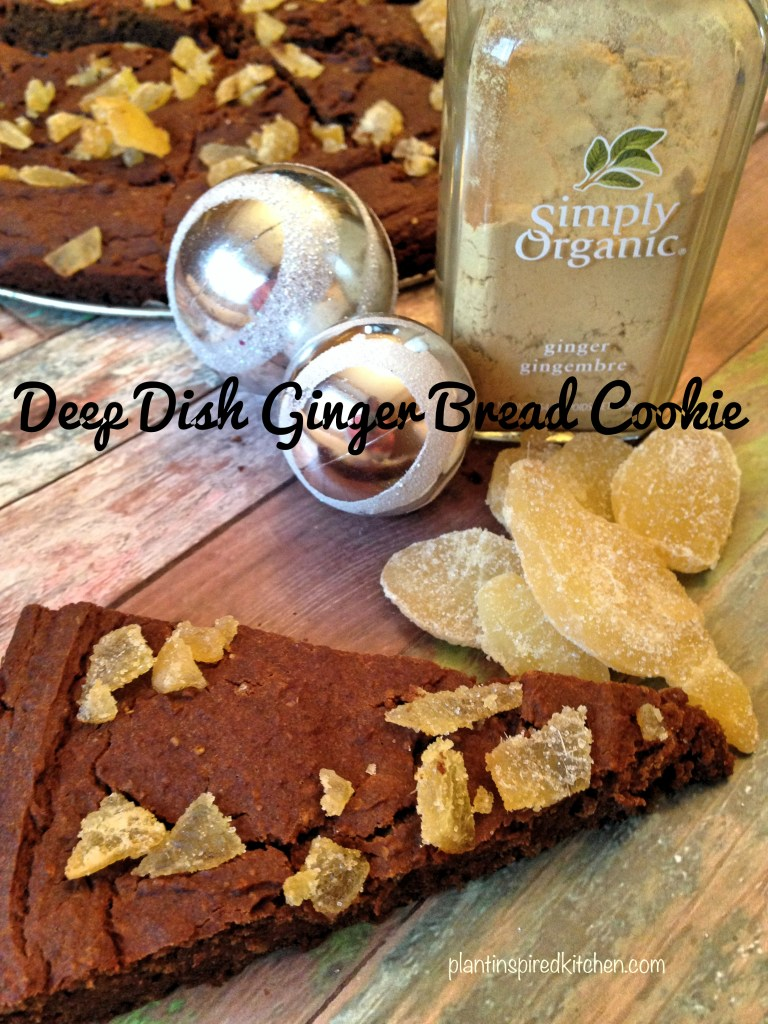 Deep Dish Gingerbread Cookie
