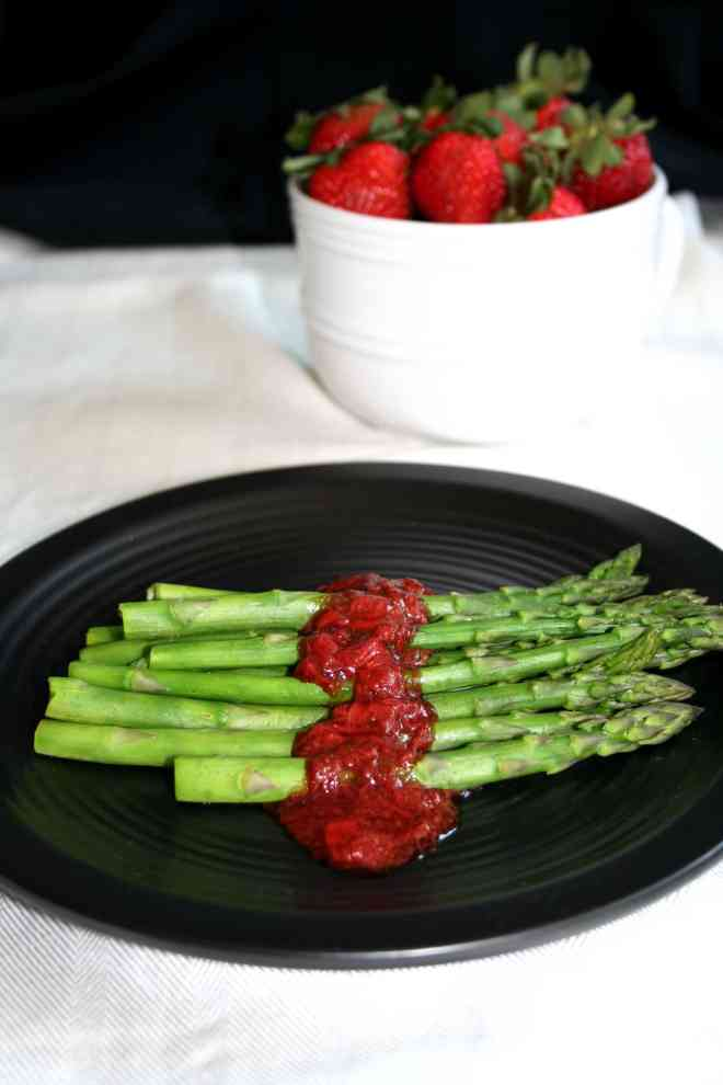 Asparagus with Strawberry Balsamic Coulis