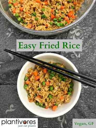 Easy Fried Rice (vegan, gf)