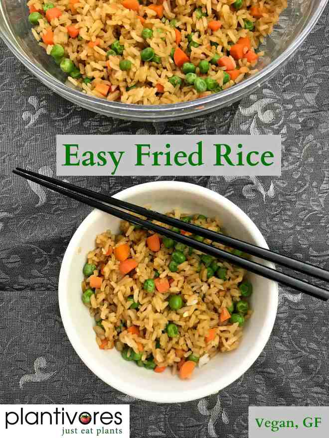 Easy Fried Rice (Vegan, GF) | Plantivores