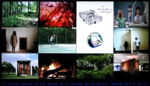 Adam Kalkin video wall at MOMA