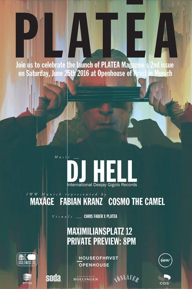 Platea magazine No.2 launch event x DJ Hell