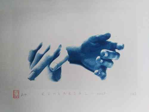 Valentina Milosevic, cyanotype print from the Rehearsal series