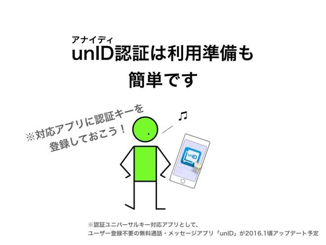 unID認証は利用準備も簡単です