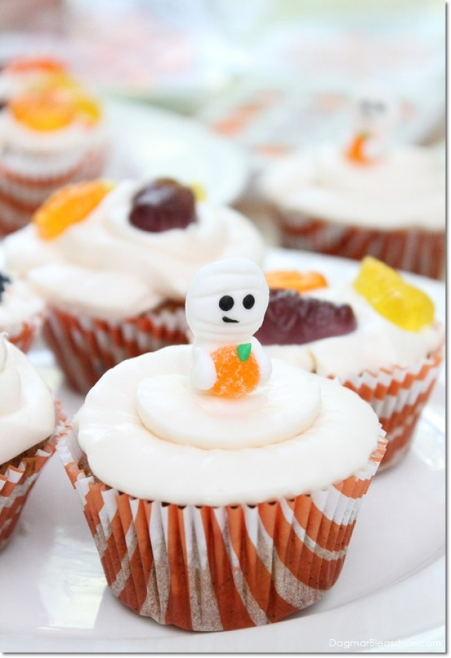 easy Halloween cupcake ideas, DagmarBleasdale.com