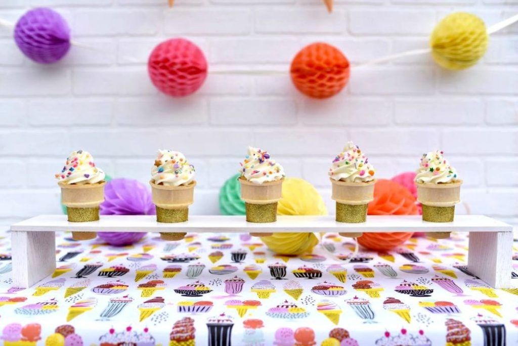 DIY ice cream cone stand for an ice cream party