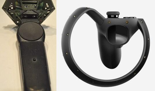 HTC Vive (left), Oculus Rift (right).