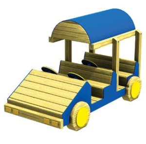 Wood playground wooden four-wheel drive