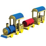 Wood playground wooden freight train