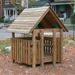 Wood playground wooden play hut