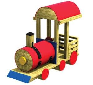 Wood playground wooden playwood steam engine