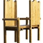 wood playground throne chairs