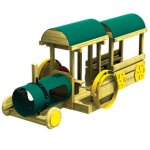 Wood playground tractor wagon