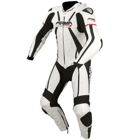 Armr Moto Harada R Leather Motorcycle Suit White