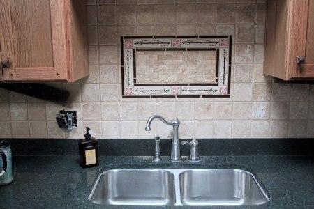 backsplash over sink