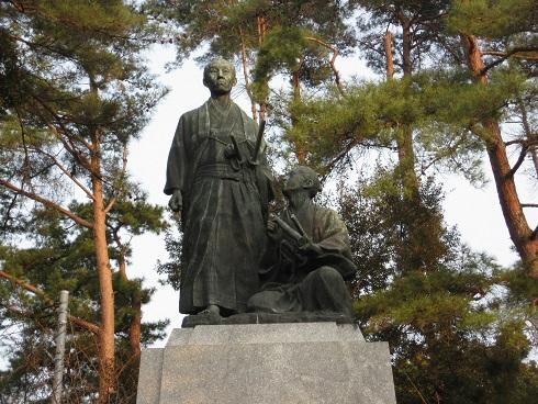 吉田松陰銅像の写真