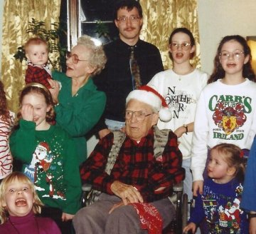 Funny Family Christmas Photo