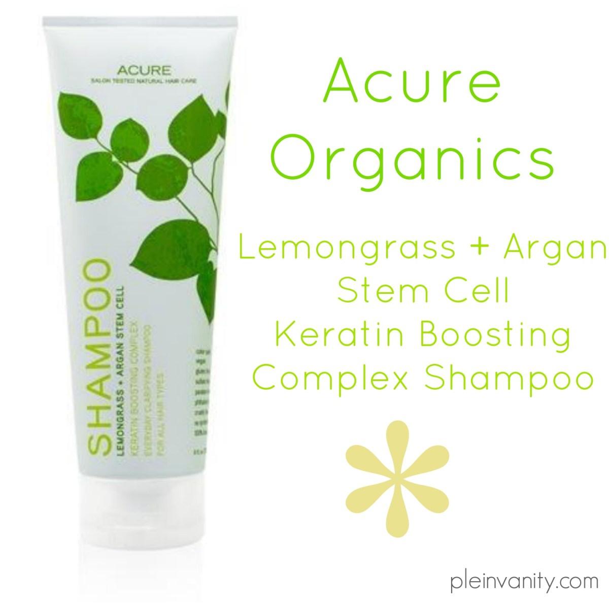 Shampoo Savior: Acure Organics Lemongrass + Argan Stem Cell Shampoo Review