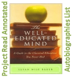 Well-Educated Mind: Autobiography List