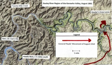 Battle of Kessler's Cross Lanes map, courtesy of Oberlin College
