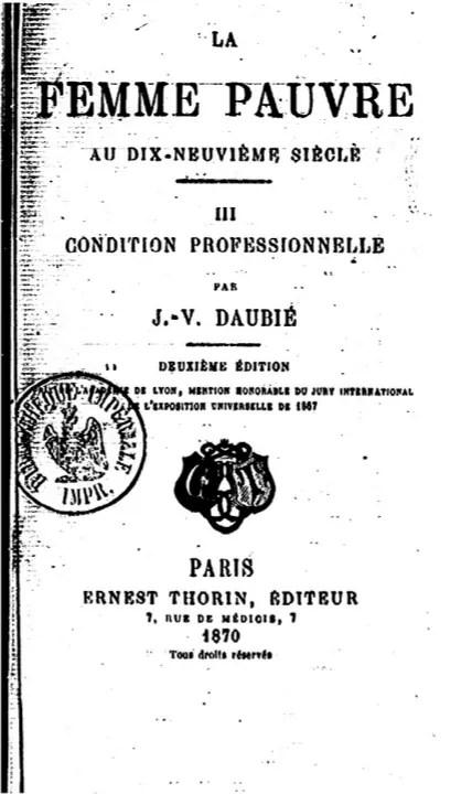 La femme pauvre au XIXème siècle