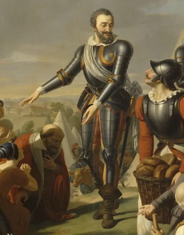 Henri IV au siège de Paris - détail d'une peinture du XIXème siècle, collections du château de Versailles