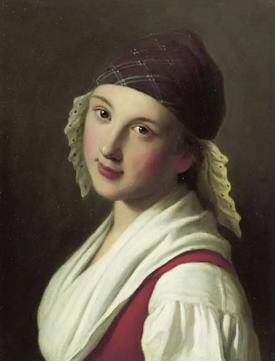 Jeune fille russe par Antonio Rotari