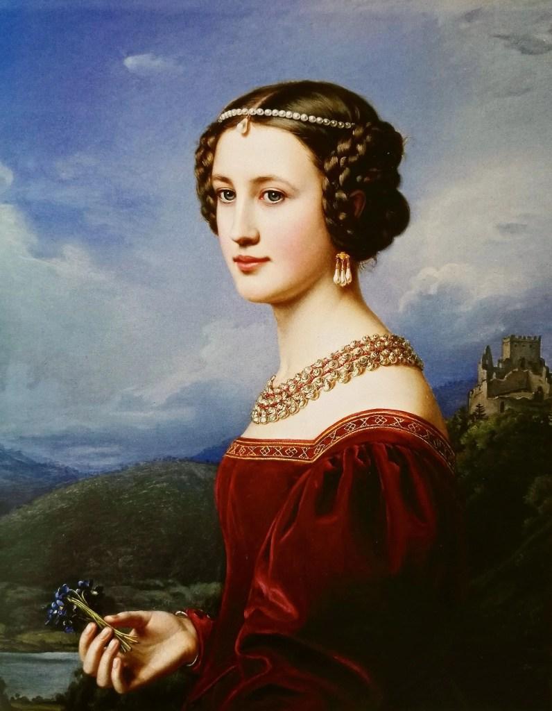 Cornelia Vetterlein, baronne de künsberg - Portrait par Stieler en 1828 pour la Galerie des Beautés