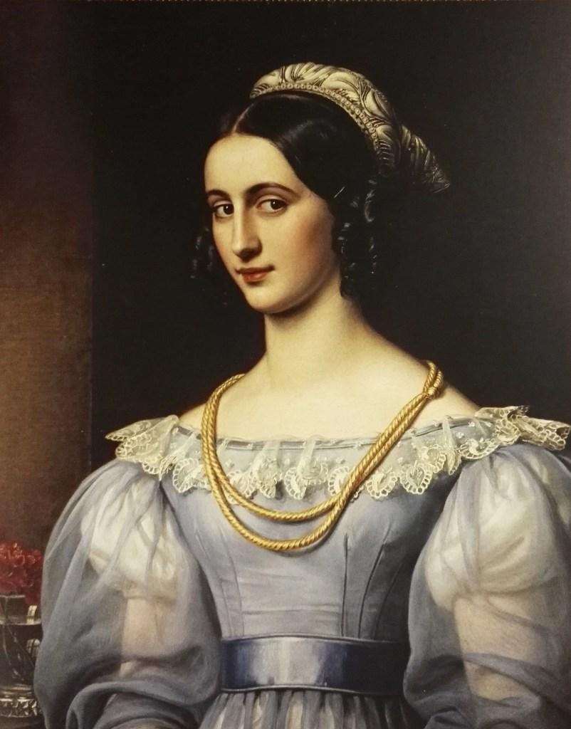 Regina Daxenberger - Portrait par Stieler en 1829 pour la Galerie des Beautés