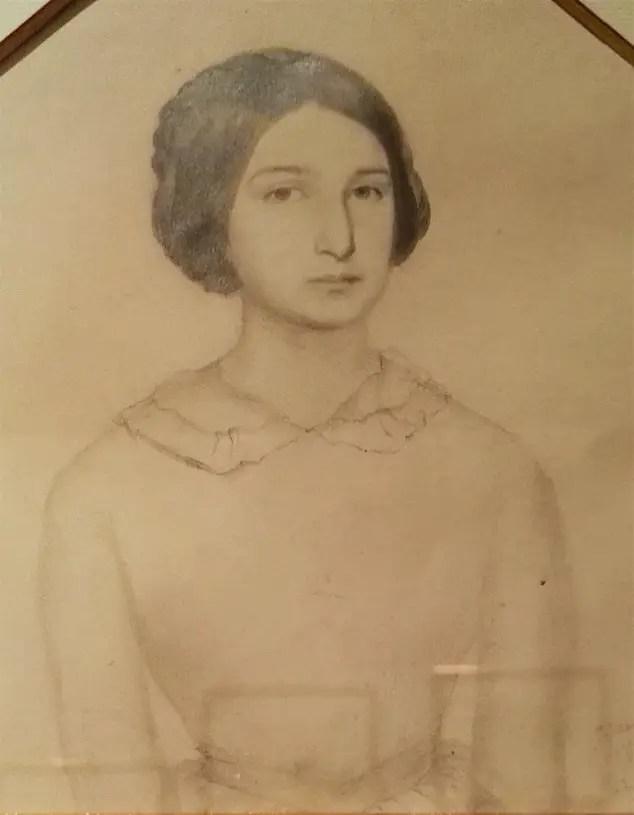 Adèle dessinée par sa mère en 1843 (maison de Victor Hugo)