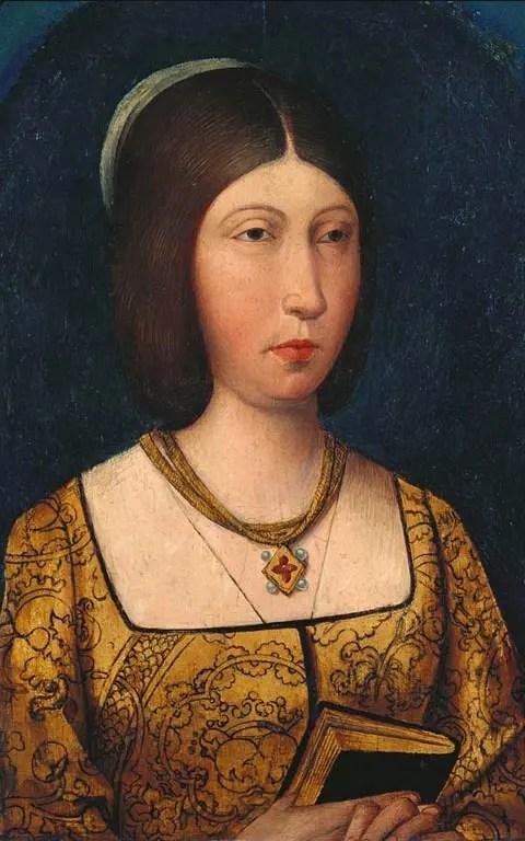 Isabelle de Castille par l'école espagnole entre 1470 et 1520 (collection royale britannique)