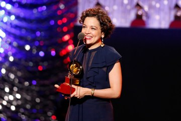 LAS VEGAS, NV - NOVEMBER 19:  Natalia Lafourcade accepts the Record of the Year award for 'Hasta la Raiz  onstage during the 16th Latin GRAMMY Awards premiere ceremony at the MGM Grand Hotel & Casino on November 19, 2015 in Las Vegas, Nevada.  (Photo by Rich Polk/WireImage)
