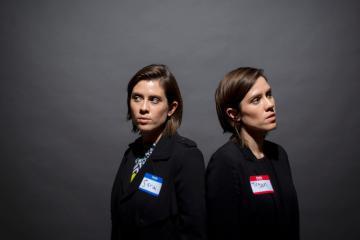 """Tegan & Sara interpretaron """"Stop Desire"""" en el programa de Stephen Colbert. Cúsica Plus"""