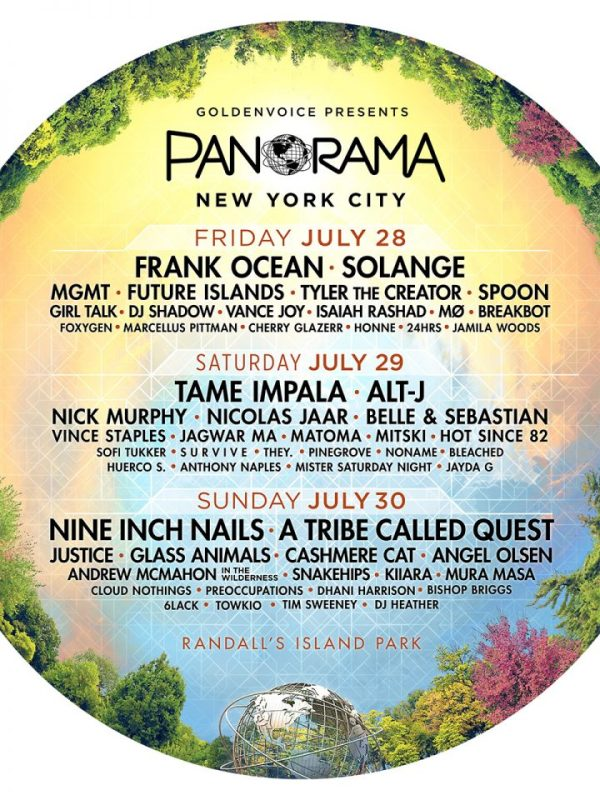 Panorama 2017 Line Up Cusica Plus