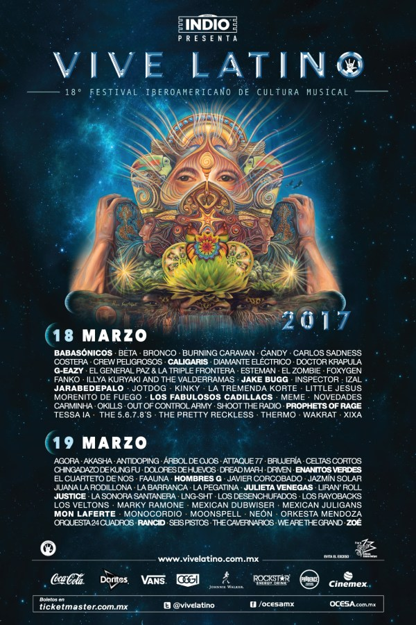 Vive Latino 2017 Line Up Cusica Plus