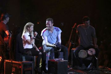 Shakira y Coldplay comparten tarima en el festival Global Citizen. Cusica Plus.