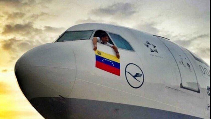 Último vuelo de la aerolínea Lufthansa en Venezuela