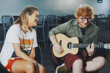"""Rita Ora lanza una versión acústica de """"Your Song"""" junto a Ed Sheeran. Cusica plus."""