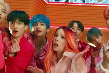 """Boy With Luv"" de BTS y Halsey, se convierte en el video más visto de YouTube. Cusica Plus."