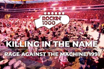 1000 músicos se unieron para tocar al mismo tiempo 'Killing in the Name' de Rage Against the Machine. Cusica Plus.
