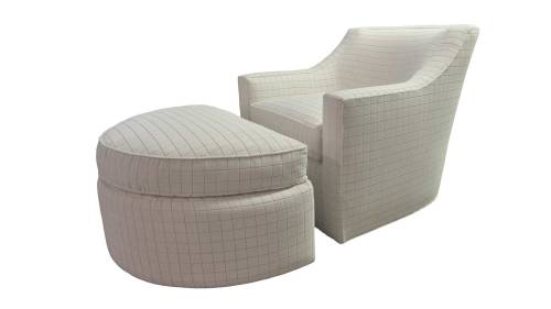 Medium Of Plush Chair And Ottoman