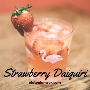 Strawberry Daiquiri 3 simple cocktails perfect for Valentines day.