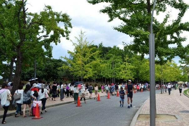 2012.8.19 a-nation 2012 長居スタジアムにのびる同じ方向に歩いている方は、保護責任なし!野外ライブ 落雷死