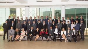 Líderes voluntários de todo o continente presentes no encontro em Lima.