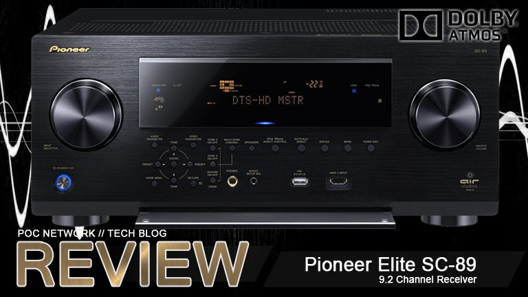 Review: Pioneer Elite SC-89 9.2 Channel Receiver with Dolby Atmos