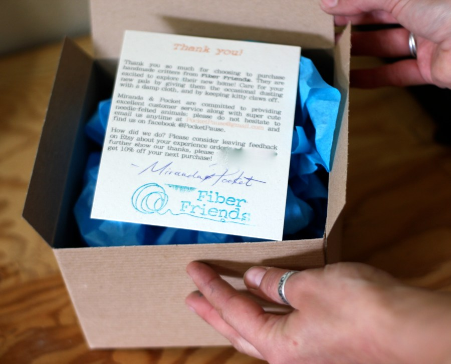 Every Friend comes with a signed Thank You note and is carefully packaged by hand