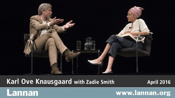 Karl Ove Knausgaard with Zadie Smith
